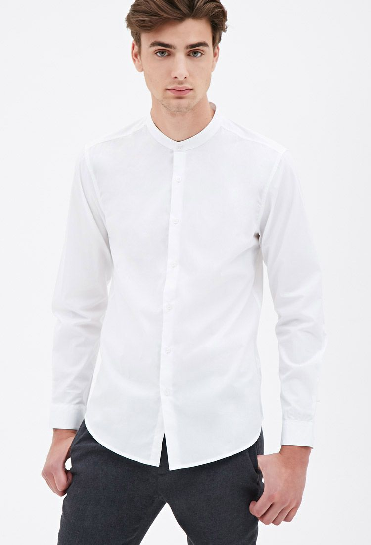 8e2ea9b9160 5 Simple Mandarin Collar Mens Shirts Inspired by Orlando Blooms Relaxed  Style