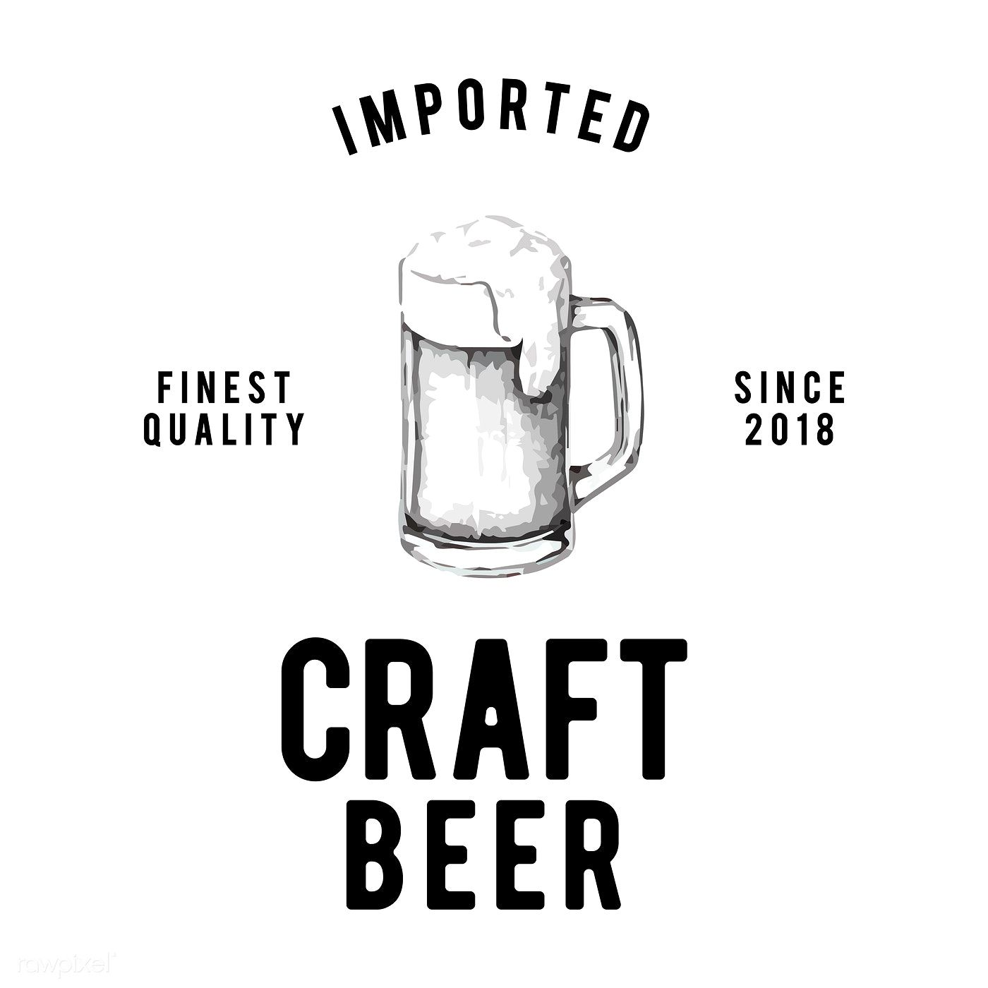 Craft Beer Logo Design Vector Free Image By Rawpixel Com
