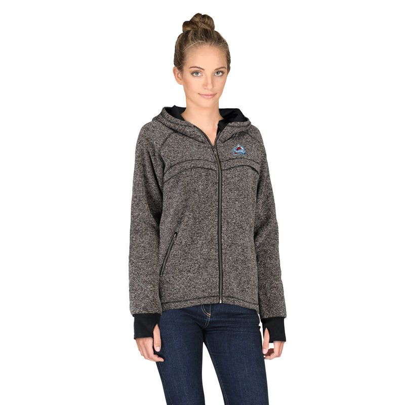 Colorado Avalanche Rinkside Women's Taber Hooded Jacket - Charcoal