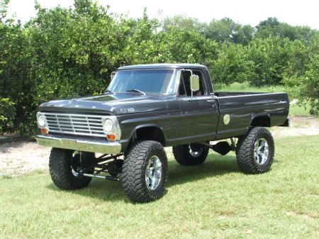 1967 Ford Truck 1967 Ford F 100 Bring On The Mud And The Hills And The Toughest Road You Can Throw At Me Ford Trucks Classic Ford Trucks Lifted Ford Trucks