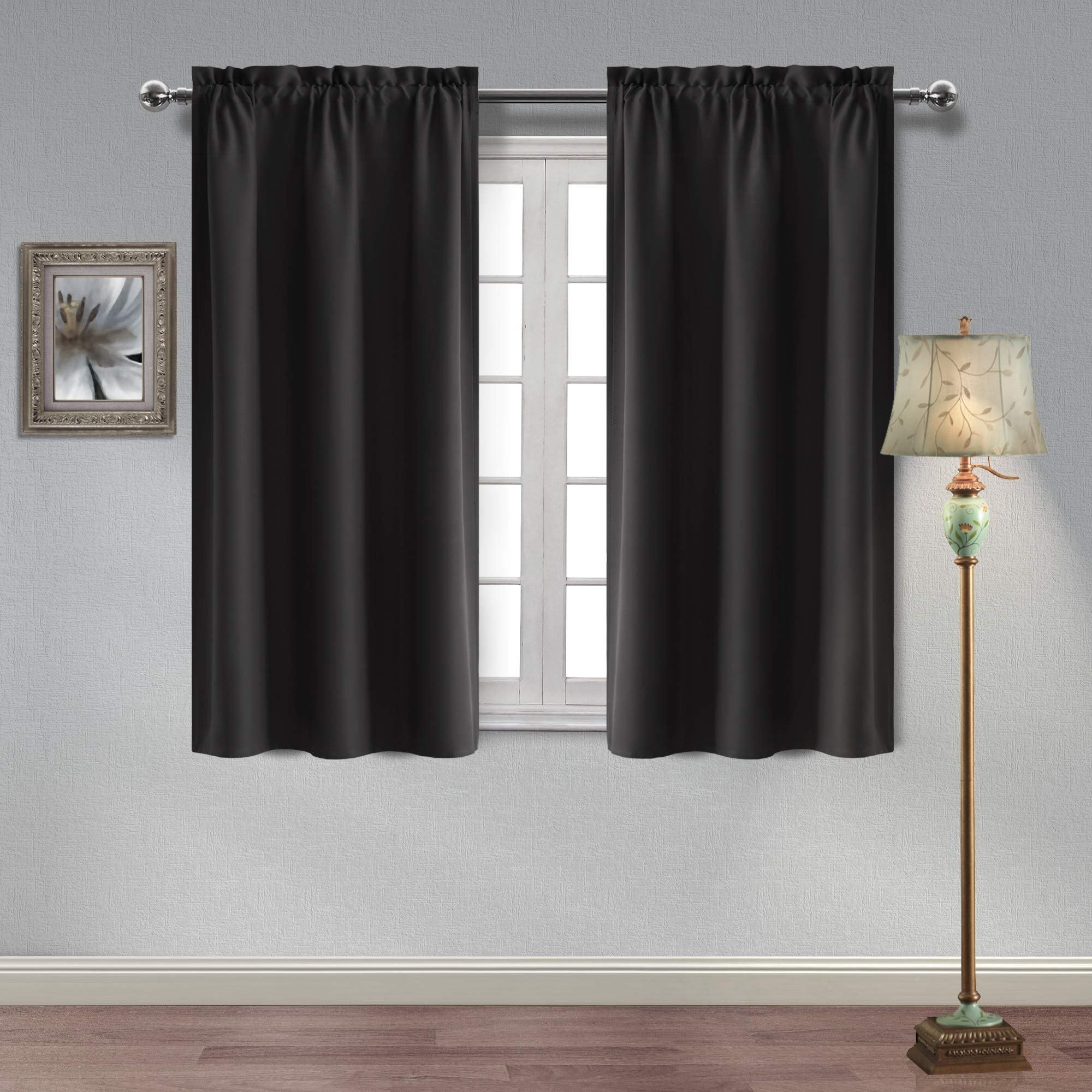 Homedocr Thermal Insulated Blackout Curtains Sun Blocking And