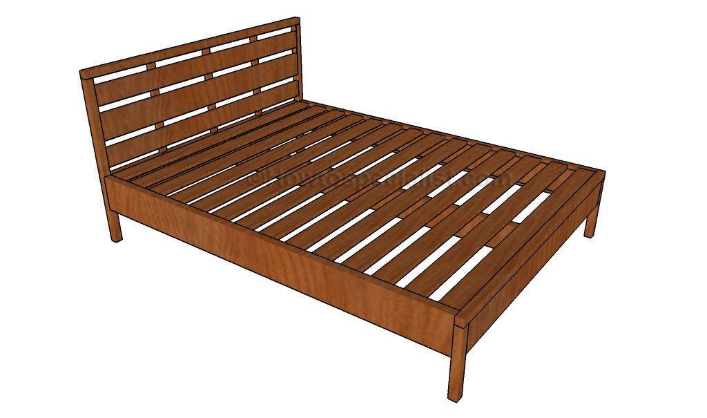 Queen Bed Frame Plans   HowToSpecialist - How to Build, Step by Step ...