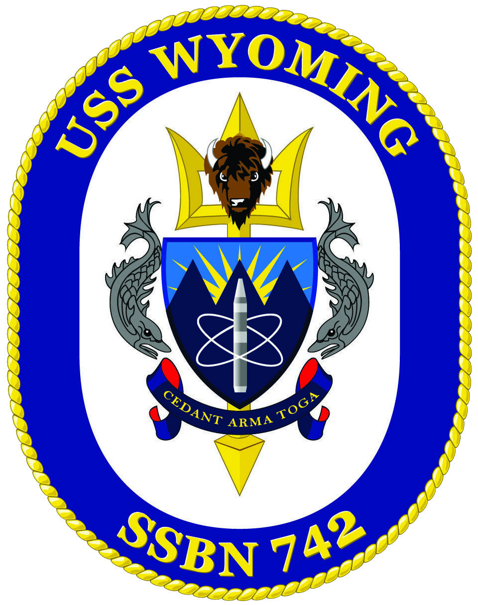 Official Logo Of Uss Wyoming Ssbn 742 Navy Day Us Navy Ships Us Navy Submarines