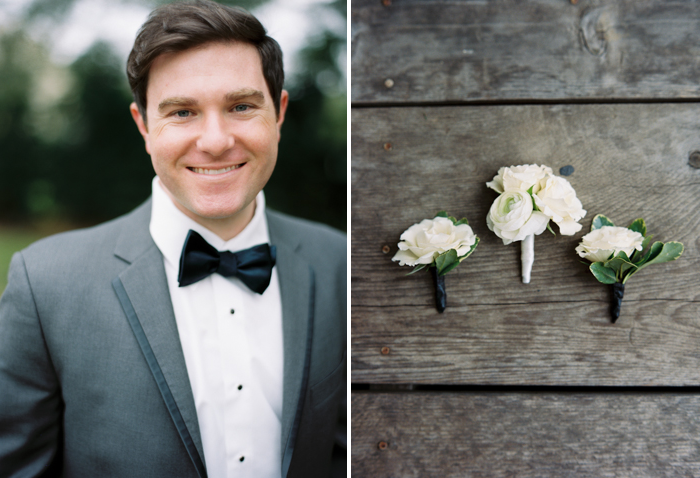 Nathan Westerfield Photography http://www.nathanwesterfield.com Southern Plantation Wedding White Boutonnieres