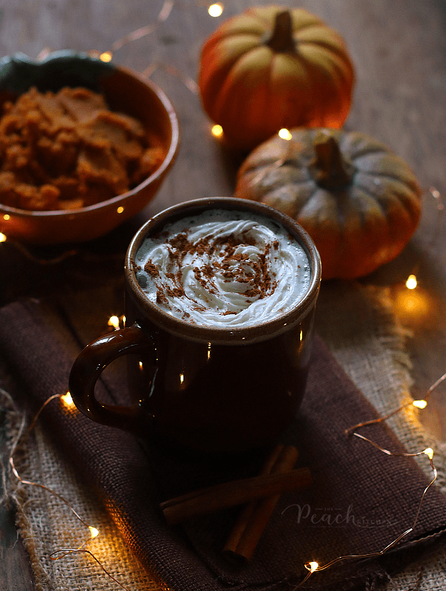 Pumpkin Spice Latte Recipe Pumpkin spice latte, Peach