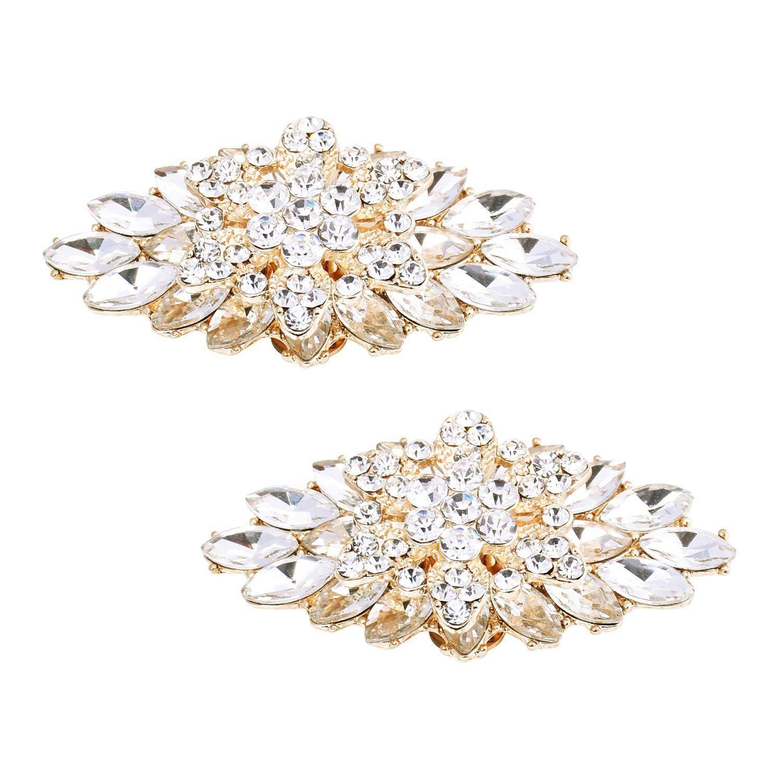 78d2211c6a545 Amazon.com: ElegantPark BD 2 Pcs Shoe Clips Double Layers ...