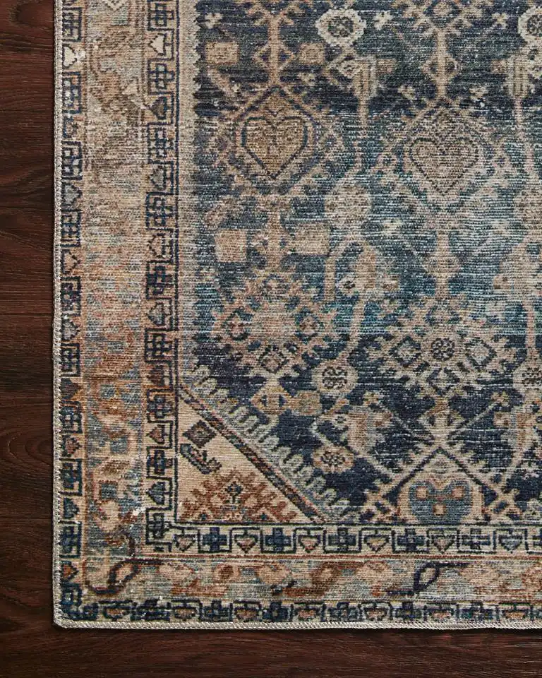 Lenna Lea 01 Indigo Natural Area Rug Magnolia Home By Joanna Gaines In 2021 Natural Area Rugs Area Rug Design Magnolia Home Rugs
