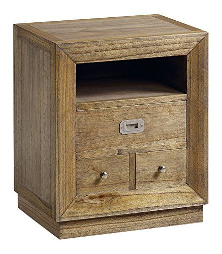 moycor Merapi – Bedside Table, 3 Drawers, 1 Hole, 50 x 40 x 60 cm