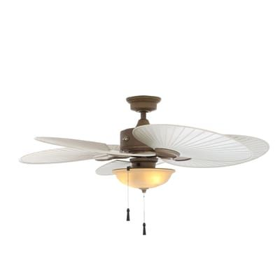 Hampton Bay Havana 48 In Indoor Outdoor Cappuccino Ceiling Fan With Light Kit 51329 Ceiling