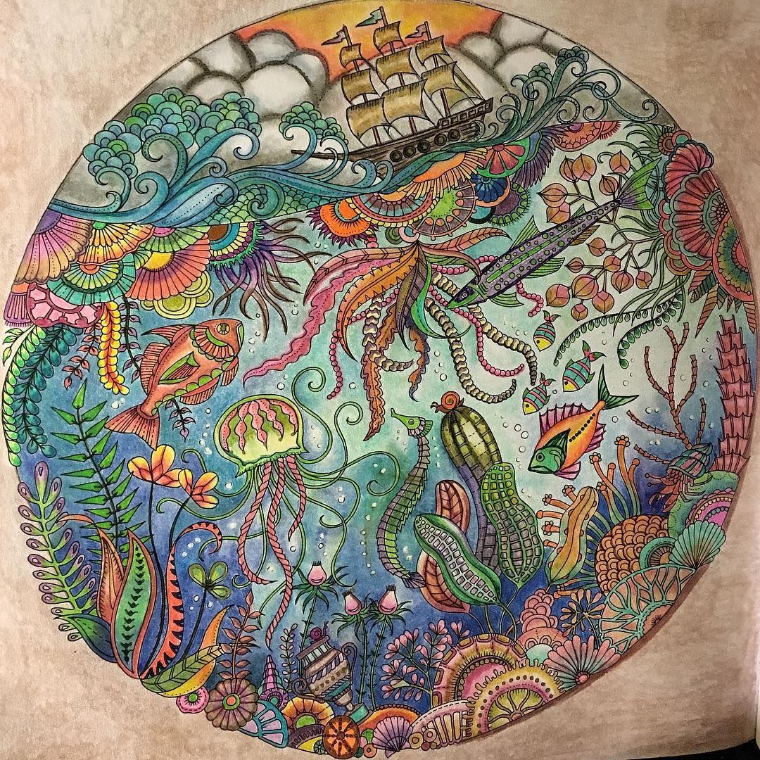 lostoceancoloringbook #johannabasford #myCreativeEscape | Lost Ocean ...