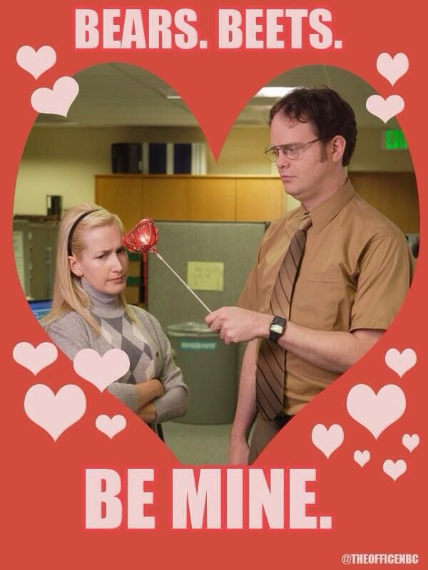 Rainnwilson On Twitter The Office Valentines Dwight And Angela Valentines Memes