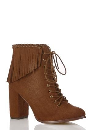 ff28a6ef188 Cato Fashions Lace Up Fringe Ankle Boots  CatoFashions