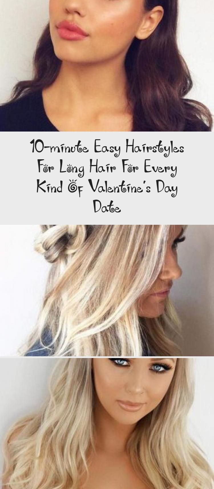 10-minute Easy Hairstyles For Long Hair For Every Kind Of Valentine's Day Date – Wedding