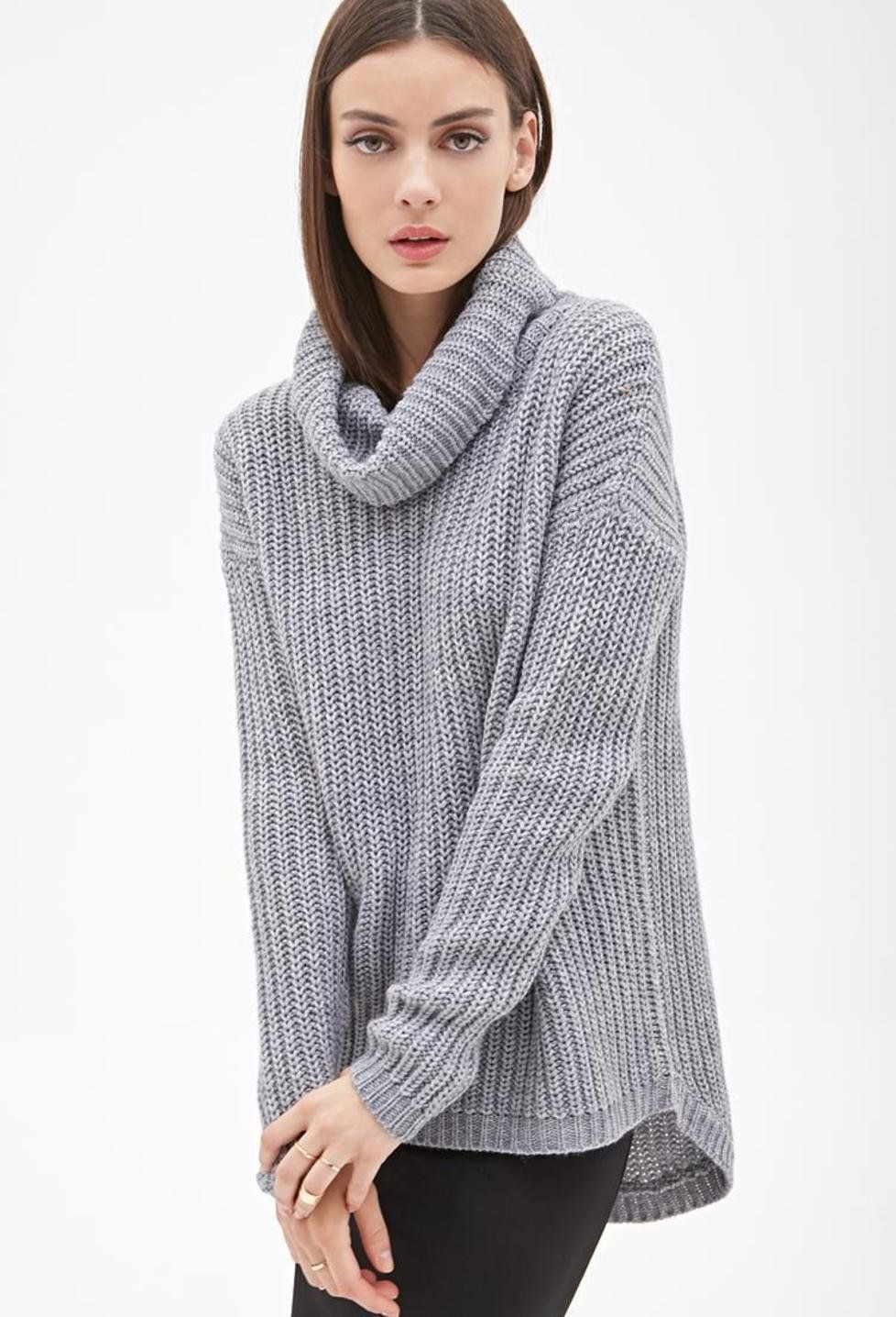 Szary sweter z golfem | Wishlist | Pinterest