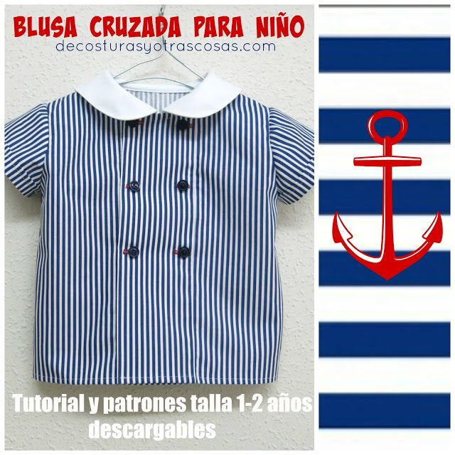 Sewing pattern & instructions for a sailor top