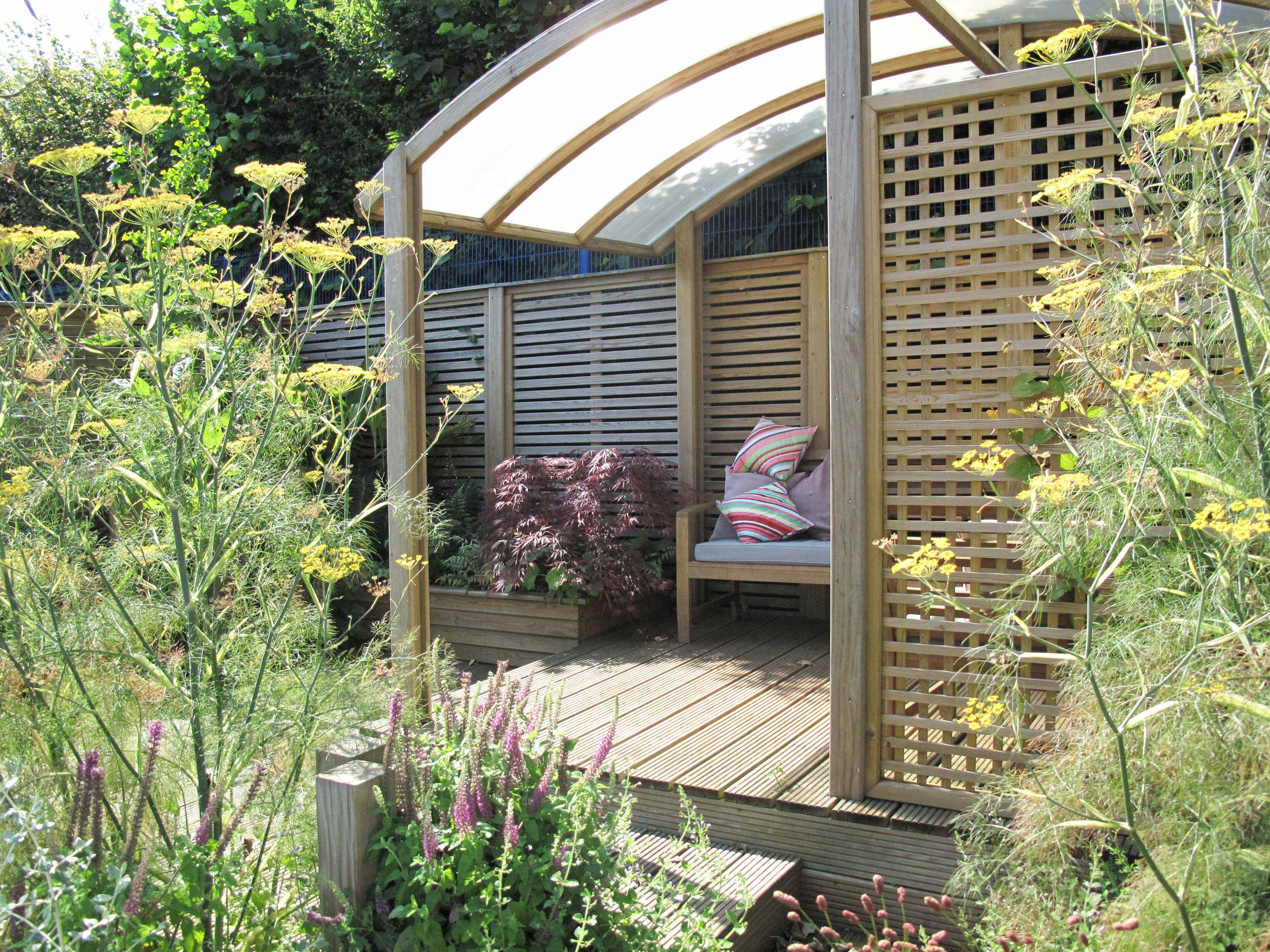 Gardens, fencing and hanging baskets on pinterest