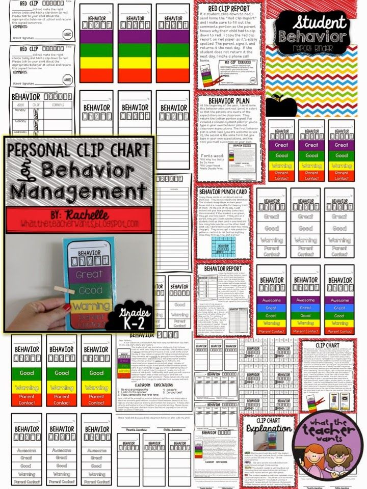 Personal Clip Chart And Behavior Management Plan  Behavior