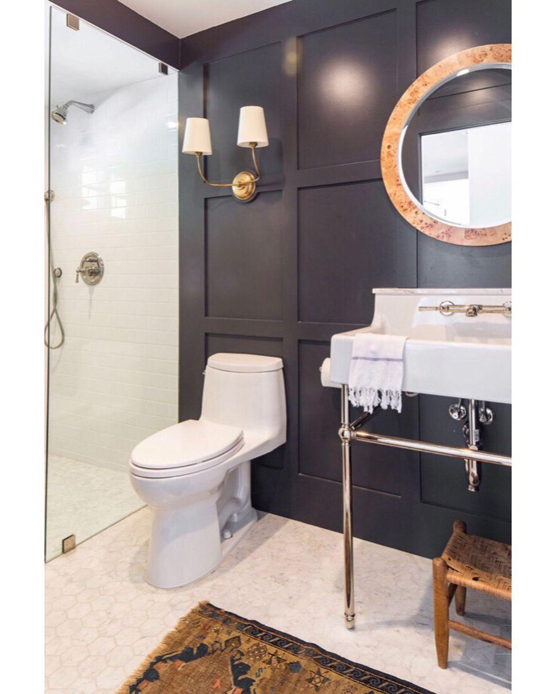 Black Wall Bathroom Black Bathroom Decor Bathroom Interior Design Black Bathroom