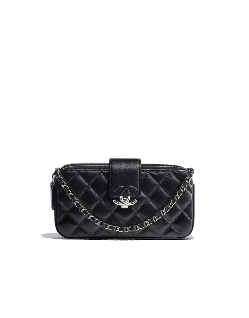 3876c0f56aea Clutch with chain CHANEL. Clutch with chain CHANEL Small Leather Goods ...