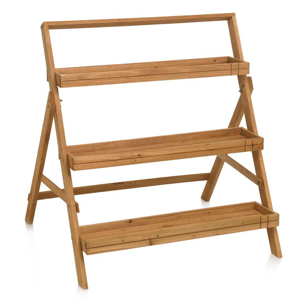 Wilko Cascade Garden Shelf Wood Natural at wilko. | Patio/Deck/Porch ...