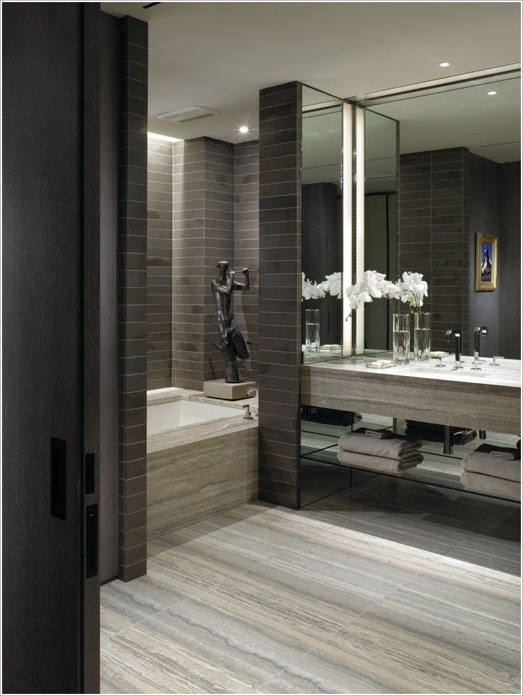 stylish and awesome mosaic bathroom tiles ideas with new york bath tub alcove brown cream gray