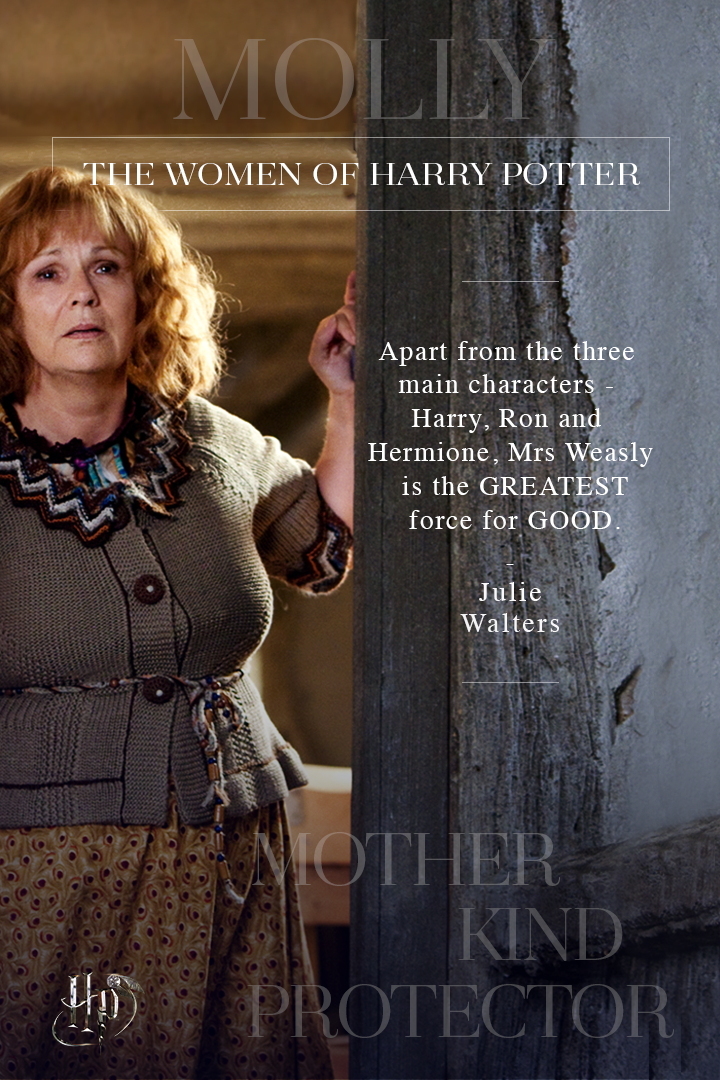 Julie Walters On Her Love For Molly Weasley Celebrate International Women S Day With Quotes From Julie Walters Harry Potter Characters Harry Potter Cosplay