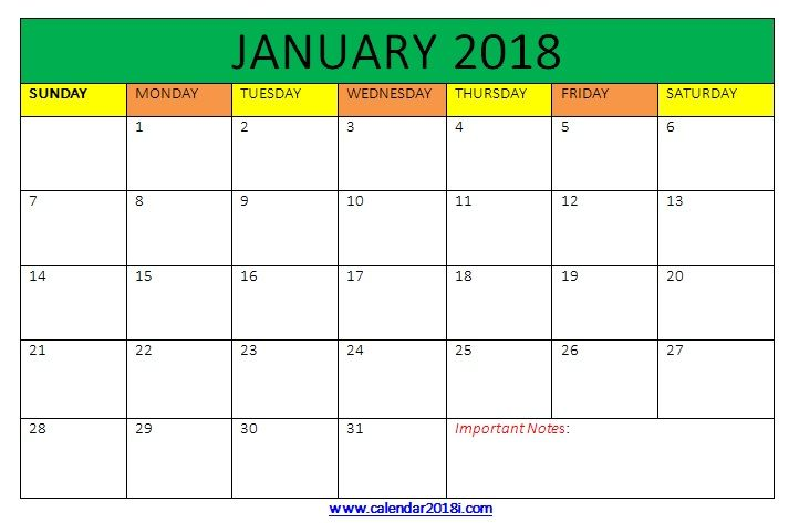 January  Calendar Printable Word Template  Maxcalendars