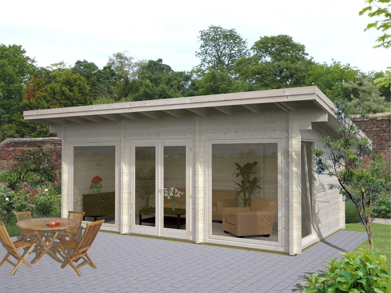 Palmako Gartenhaus Heidi 19,7 m² Blockhaus ferienhaus