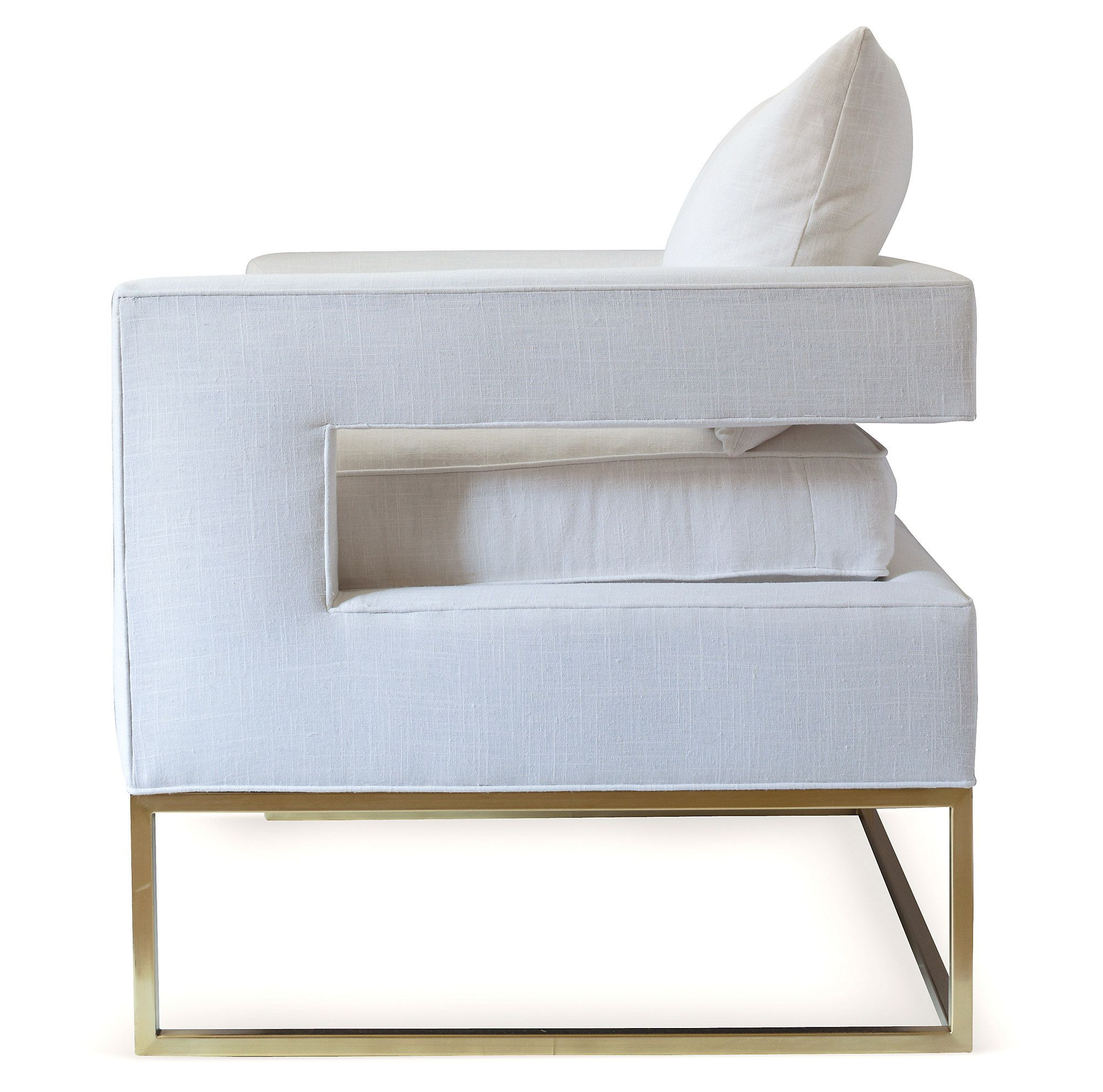 Bevin accent chair white linen linen accent chairs
