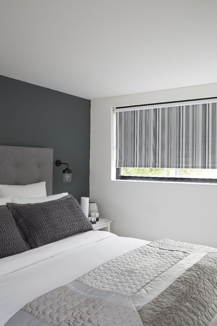 Blackout Bedroom Blinds Fascinating Our Flint Silver Roller Blind Features A Simply Stunning Striped Decorating Design
