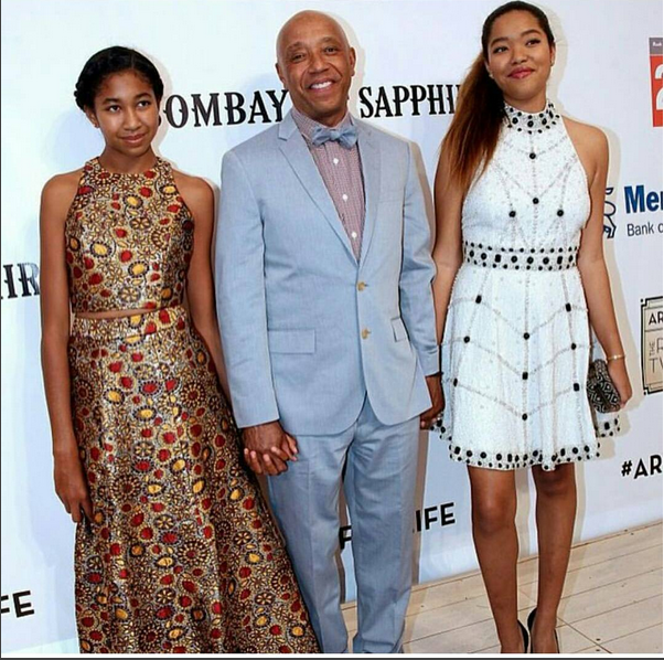 Russell Simmons' daughters Aoki and Ming, are now 13 and ...