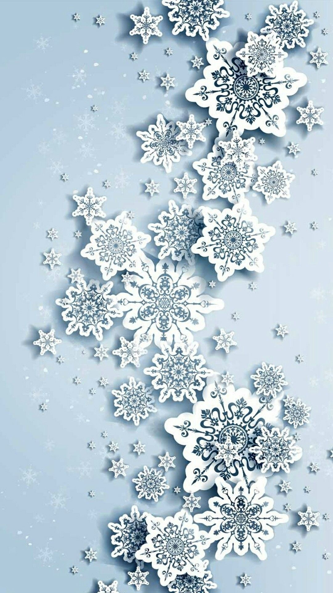 Snowflake Mobile Background Image In 2019 Winter Wallpaper
