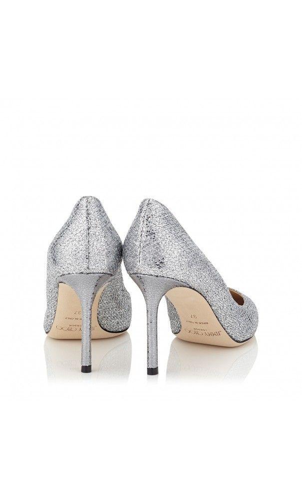 325c8ed0821 Jimmy Choo Romy 85 Silver Glitter Fabric Pointy Toe  Pumps  classic ...