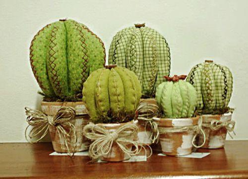 Cactus arredamento ~ Diy felt cactus decorations ornaments cactus obsession