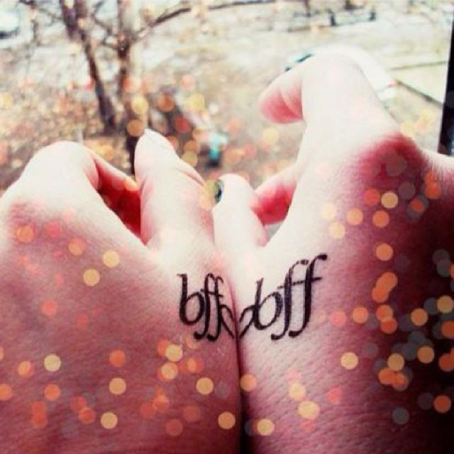 Tatted up - cute best friend tatts. let's just hope that they stay friends lol
