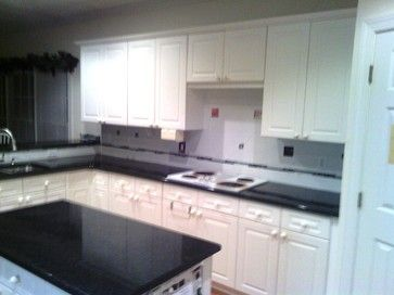 11 2 12 Black Pearl Granite Wonderful With White Cabinets Traditional Kitchen Charlotte Fireplace Distributors