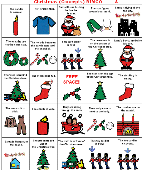 tis the season for christmas bingo from heather 39 s speech therapy pinned by sos inc. Black Bedroom Furniture Sets. Home Design Ideas