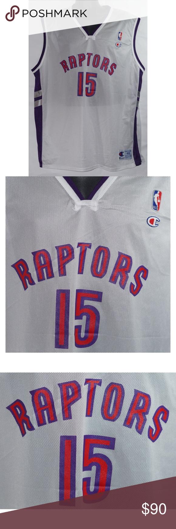 70f94e89c53 Champion Vince Carter Toronto Raptors Jersey 48 XL Champion Vince Carter  Vintage Toronto Raptors NBA Jersey Size 48 XL Champion Shirts Tank Tops