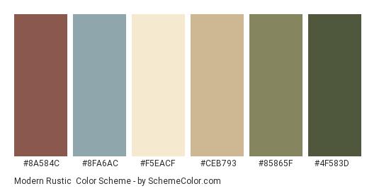 Color scheme palette image | Rustic color schemes, Rustic color palettes, Brown color schemes