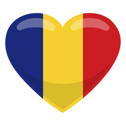 Romania Heart Flag Flag Graphic Resources Graphic Image