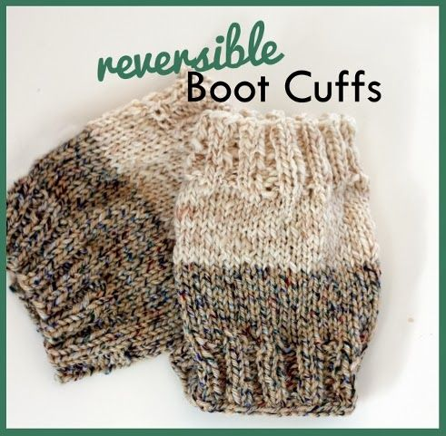 Everyday Art: Free Reversible Knit Boot Cuff Pattern | Crochet/Knit ...