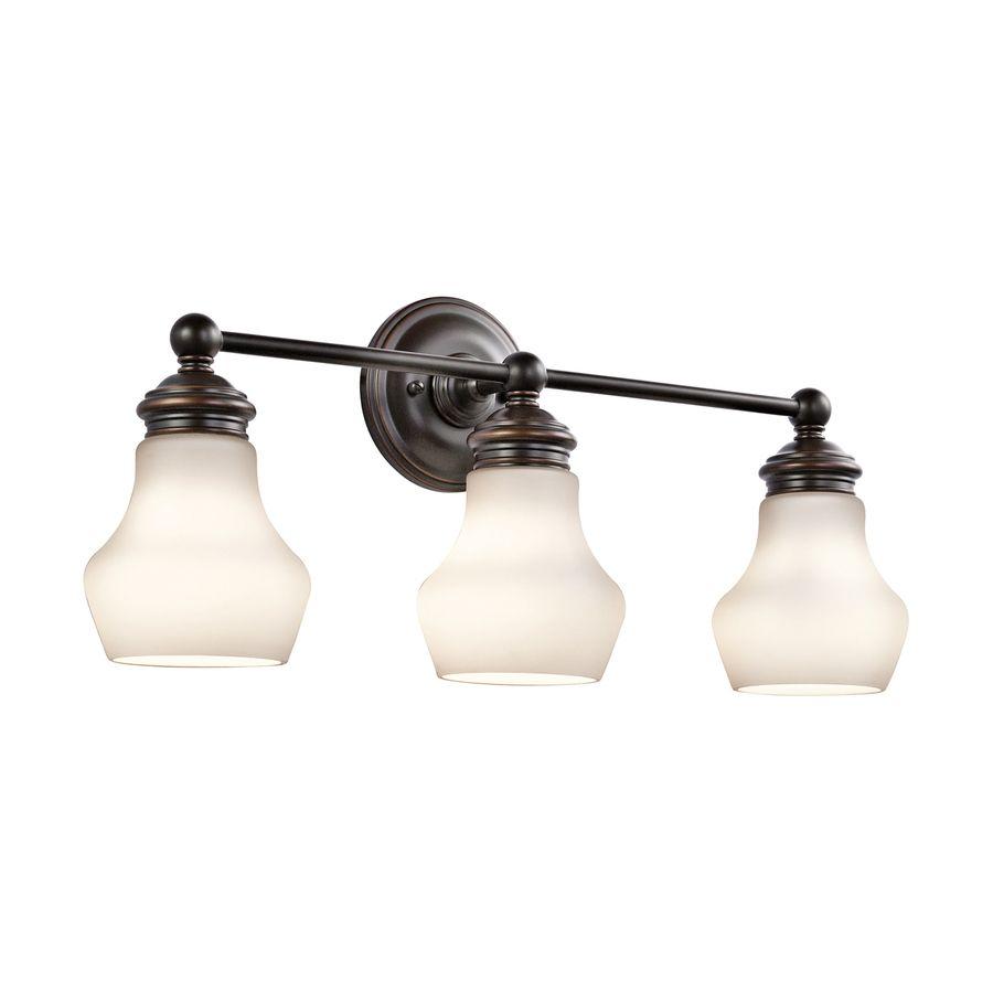 Shop Kichler Lighting 3-Light Currituck Oil Rubbed Bronze Bathroom ...