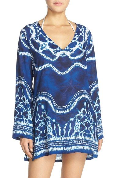 b63bfd9f3d6e52 La Blanca 'Moody Blues' Tie-Dye Cover-Up Tunic available at #Nordstrom