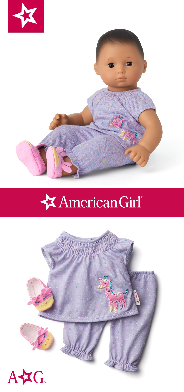 American Girl Doll Bitty Baby One Piece Sleeper New
