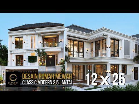 desain rumah mewah style classic modern milik ibu chen