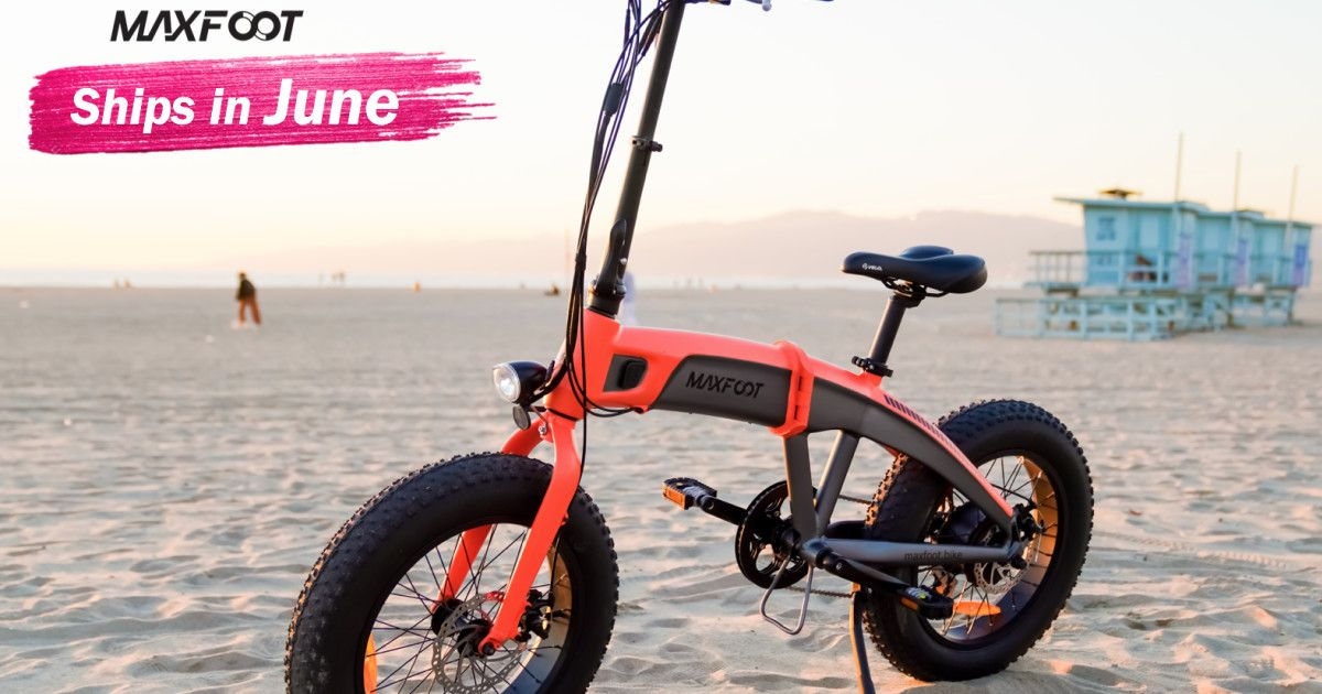 Maxfoot 500w 750w 1000w Foldable E Bike Indiegogo Savate