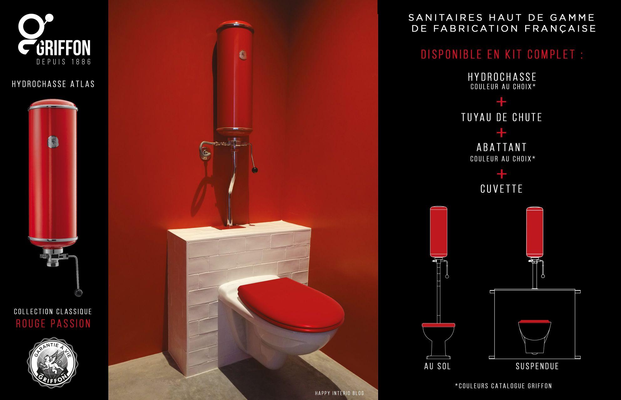 Marque De Toilette Suspendue sanitaire haut de gamme rouge passion de la collection