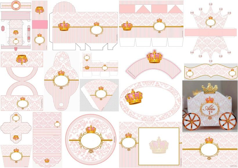 Pink Arabesques and Golden Crown: Free Printable Kit. | Oh ... - photo #28