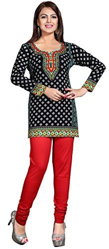 5597795e4c Maple Clothing Womens Printed Short Kurti Tunic Top Blouse Indian Clothes
