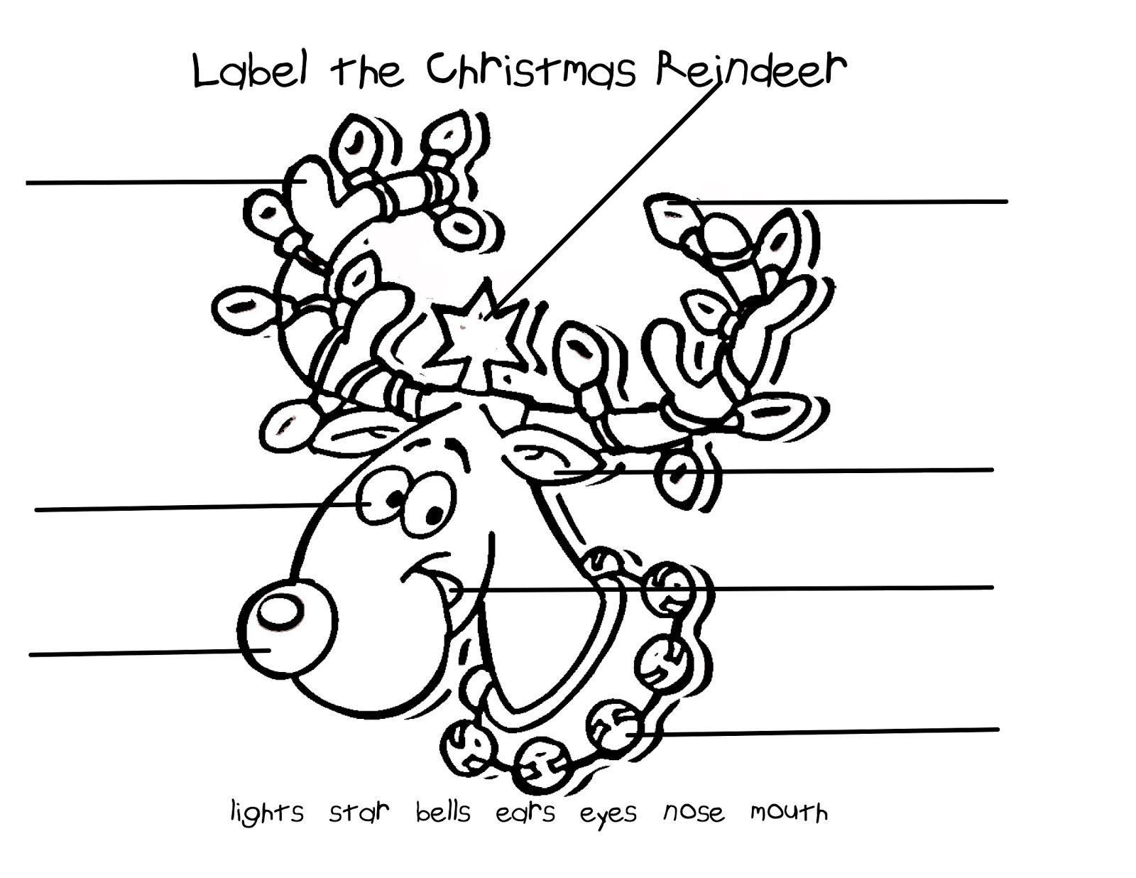 Mrs Ring S K Crew Kids Rock Christmas Labeling Worksheets